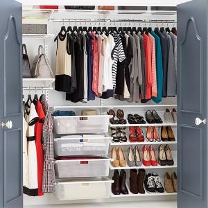White elfa Reach_In Clothes Closet