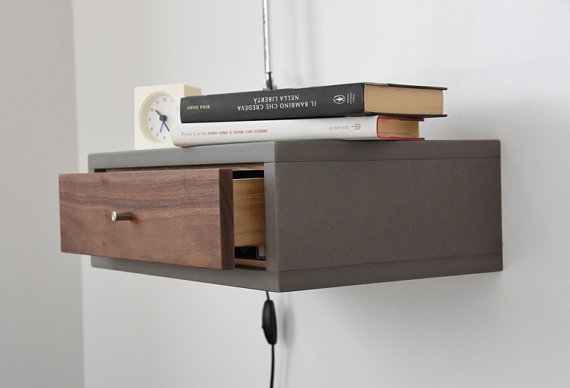 nightstand with drawer solid il in floating maple hard listing